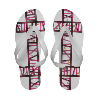 Hide And Seek - Abstract Art Ink Drawing Sandals