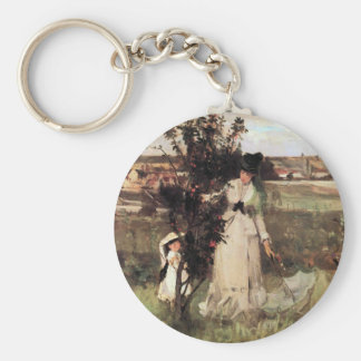 Hide-and-seek by Berthe Morisot Keychains