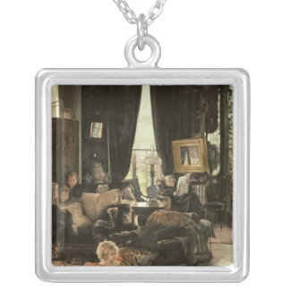 Hide and Seek, c.1880-82 Silver Plated Necklace