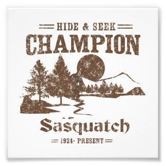 Hide and Seek Champion Sasquatch Photo Print