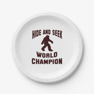 Hide and seek world champion bigfoot paper plates