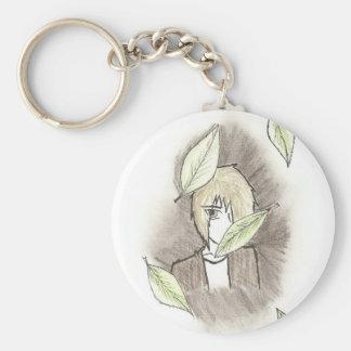 Hide Away Basic Round Button Key Ring