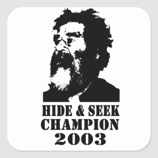 Hide & Seek Champ 2003 Square Sticker
