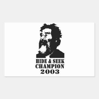 Hide & Seek Champ 2003 Rectangular Sticker