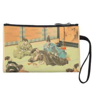 Hideyoshis Patience vintage japanese samurai art Wristlet