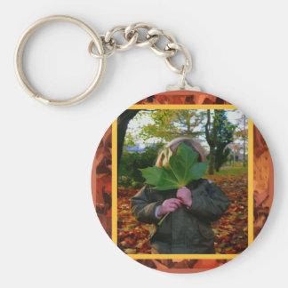 Hiding Behind a Leaf Keychain