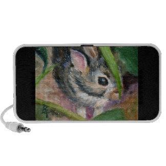 Hiding Bunny aceo Speaker