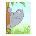 Hiding hippo postcard