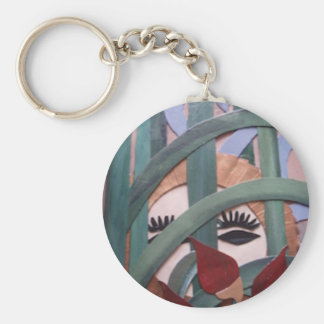 Hiding in the Pampas Basic Round Button Key Ring