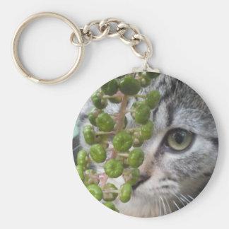 Hiding Kitten Keychain