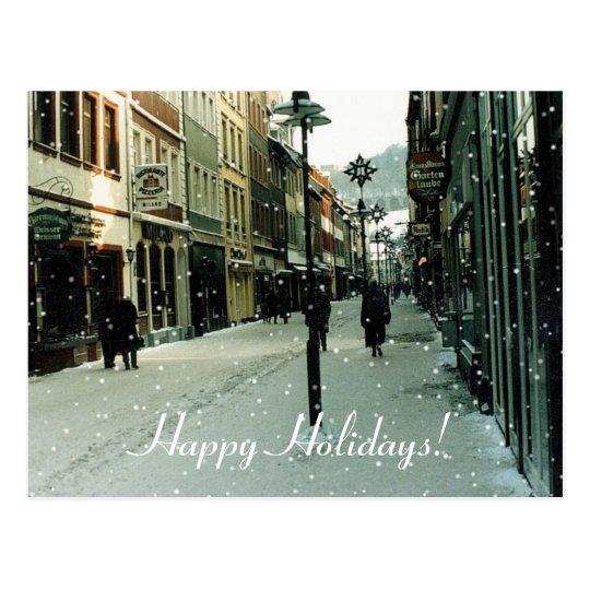 Hiedelberg, Germany Happy Holidays! Postcard