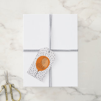Hiep Hiep Hoera Orange Balloon Dutch Birthday Gift Tags