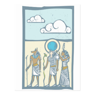 Hieroglyph Clouds Post Card