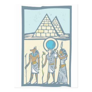 Hieroglyph Pyramids Post Card
