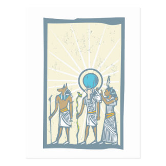 Hieroglyph Sun Rays Postcards