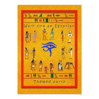 Hieroglyphic Party 13 Cm X 18 Cm Invitation Card