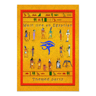 Hieroglyphic Party Card
