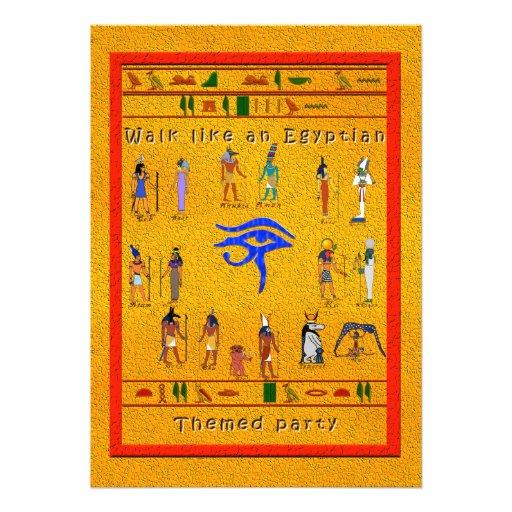 Hieroglyphic Party Card