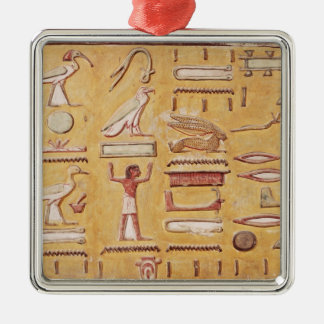 Hieroglyphics, from the Tomb of Seti I Christmas Ornament