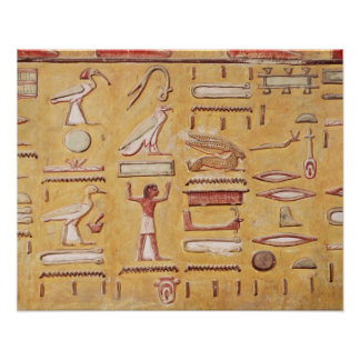 Hieroglyphics, from the Tomb of Seti I Poster