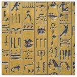 Hieroglyphics in Gold Fabric