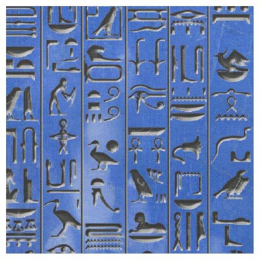 Hieroglyphics in Lapis Lazuli Fabric