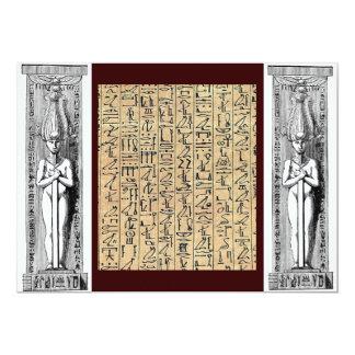 Hieroglyphics Invitation