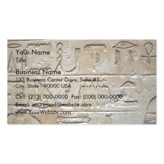 Hieroglyphics on a stone wall pack of standard business cards