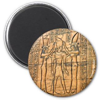 Hieroglyphs at Edfu Temple, Egypt 6 Cm Round Magnet