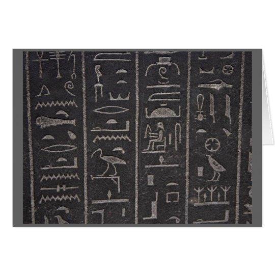 hieroglyphs thank you card