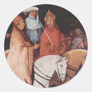 Hieronymus Bosch- Haywain (detail) Round Sticker