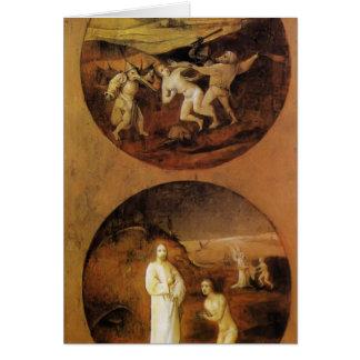 Hieronymus Bosch- Mankind Beset by Devils Card