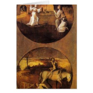 Hieronymus Bosch- Mankind Beset by Devils Greeting Card