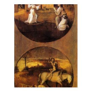 Hieronymus Bosch- Mankind Beset by Devils Postcard