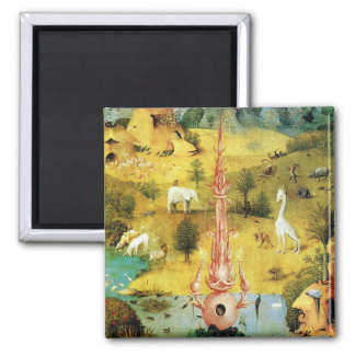 Hieronymus Bosch painting art Square Magnet
