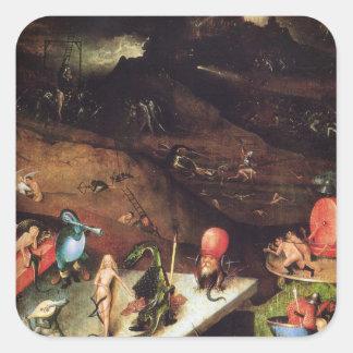 Hieronymus Bosch painting art Square Sticker