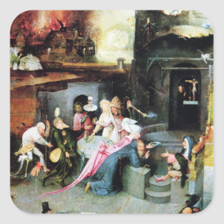 Hieronymus Bosch painting art Square Sticker