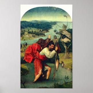 Hieronymus Bosch-St. Christopher Poster