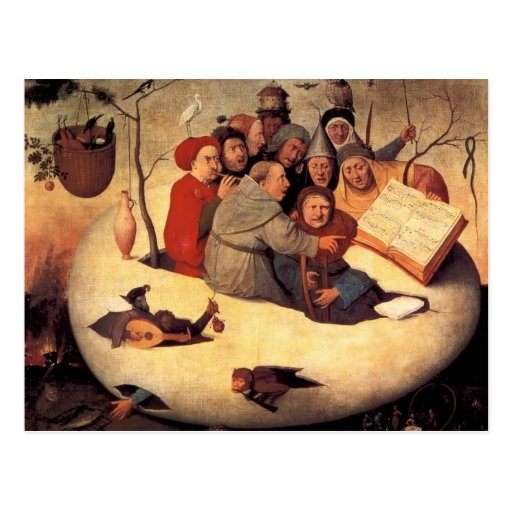 Hieronymus Bosch- The Concert in the Egg Postcards
