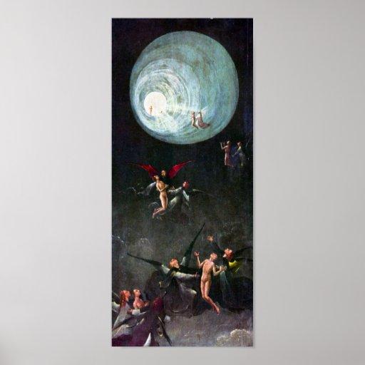 Hieronymus Bosch-The flight to heaven Print