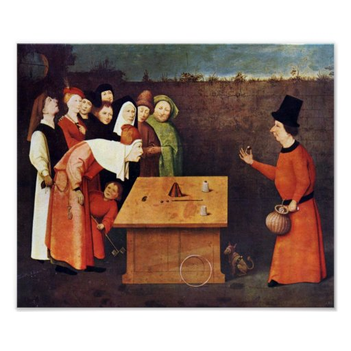 Hieronymus Bosch-The magician Posters