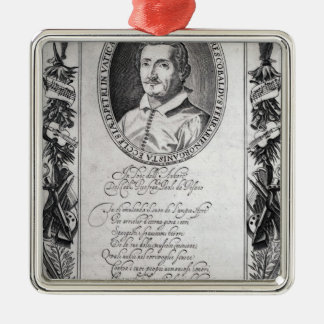 Hieronymus Frescobaldi, engraved by Christian Christmas Ornament