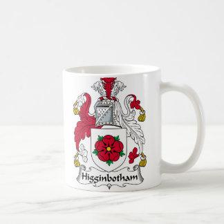 Higginbotham Family Crest Basic White Mug