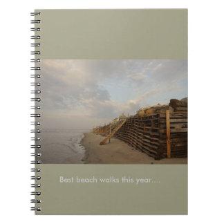 Higgins Beach High Tide Shipwreck Road Spiral Notebook
