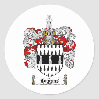 HIGGINS FAMILY CREST -  HIGGINS COAT OF ARMS STICKERS