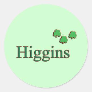 Higgins Family Round Sticker