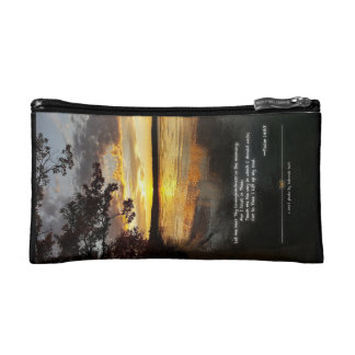 Higgins Lake, MI with Inspirational Verse Cosmetic Bag