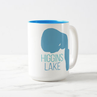 Higgins Lake, Roscommon County, Michigan Two-Tone Coffee Mug