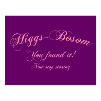 Higgs - Bosom Postcard