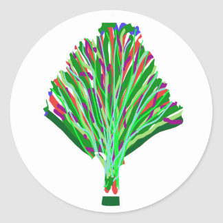 HIGH5 Highfive Hand Tree Bird Party Giveaway GIFTS Round Sticker